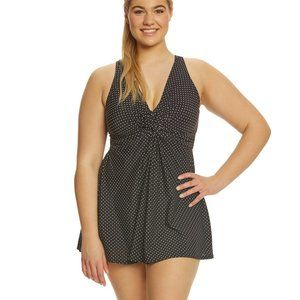 Miraclesuit Pin Point Marais Swim Dress NWT - 16